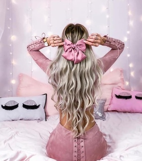 hairstyle, pink and girl