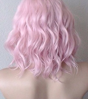 shoulders, pink hair and dyed hair