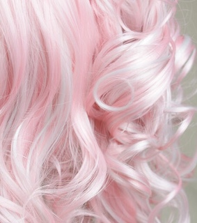 pink, curly hair and curly
