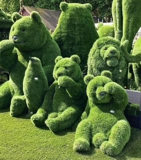 cyber, green and bear