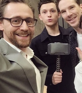 benedict cumberbatch, tom holland and Avengers