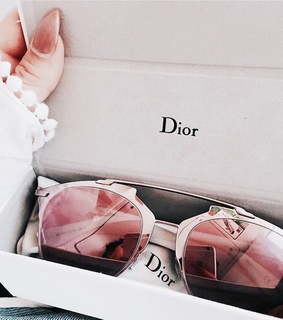 dior, girly and glasses
