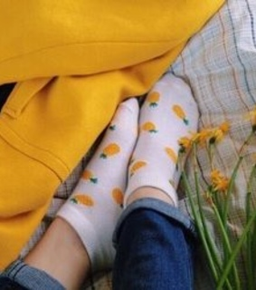 flowers, socks and yellow