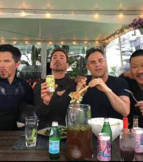 doctorstrange, ironman and bruce banner