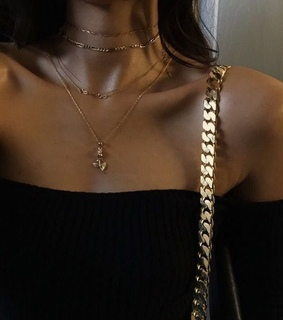 top, necklace and style
