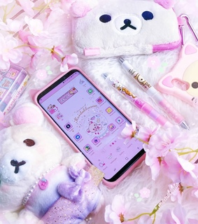 cute case, cartoon and pink