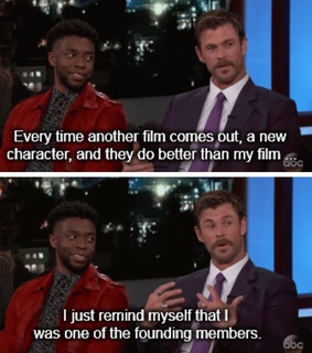 superheroes, thor and t'challa