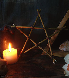 pagan decor, witchery and wiccan altar