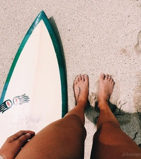 summer, surf and surfboard