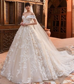 wedding, lace and gown