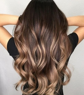 balayage, ombre and styled hair