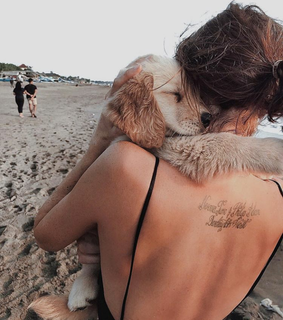 real friends, beach and golden retriever