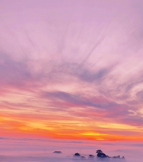 pastel, clouds and sunrise
