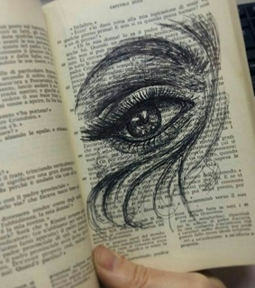 eye, black and drawing