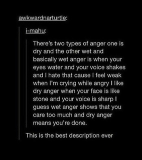 types, anger and dry