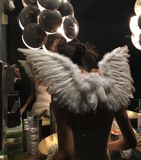 photo, angel and mirror