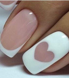 nails, pink and love