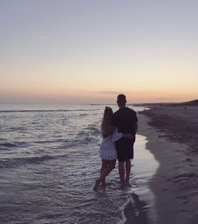 beach, in love and moments