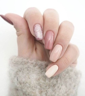 manicure, style and nails polish