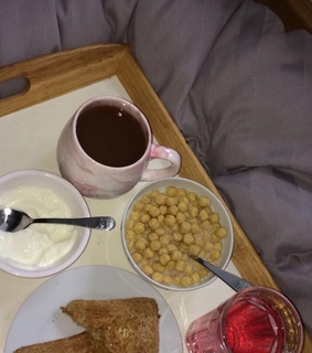breakfast in bed, relax and sunday morning