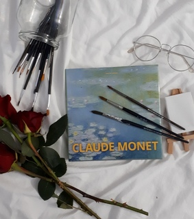 monet, painting and roses
