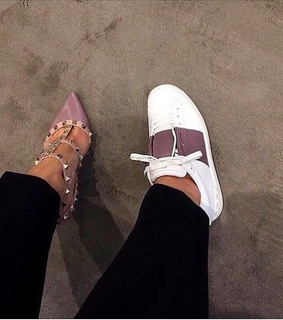 heels, sneakers and Valentino