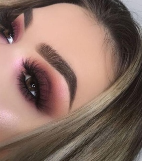 Nude, highlighter and burgundy