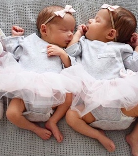 girl, family and twins