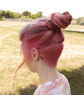 pink, cabelo and girl