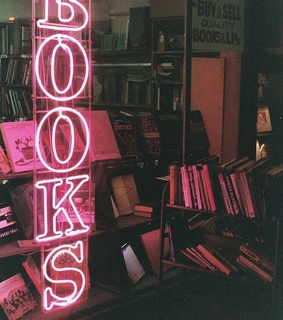neon, reading and lights