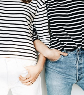 shirt, friendship and stripes