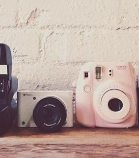 vintage aesthetic, polaroid camera and vintage
