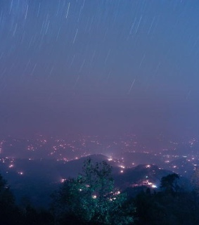 lights, mountains and fog