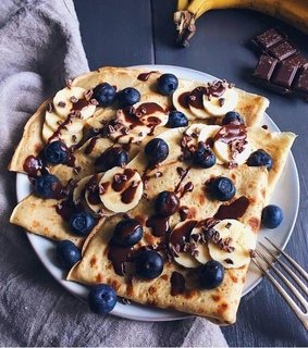 delicious, sweet and pancakes