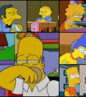 simpsons, moe and bart