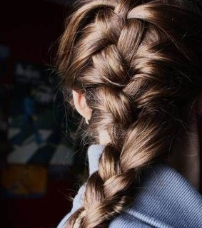 french braid, brunette and faceless