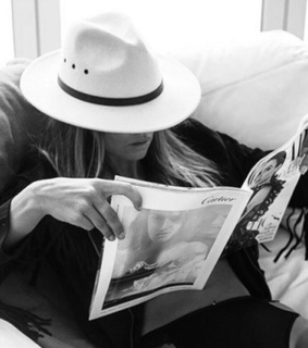 fashion, hat and black and white