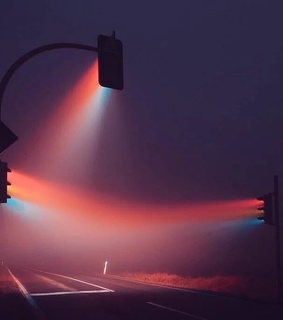 aesthetic, cyber and street lamp
