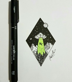 space, alien and art
