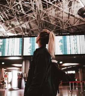 girl, airport and travel