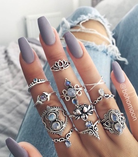 aesthetic, hands and rings