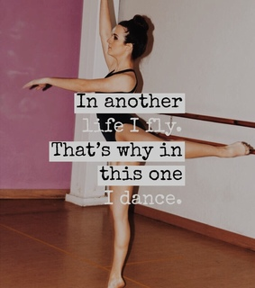 dance quote, passion and fly