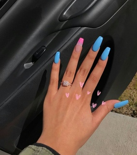 beauty, nails and pink