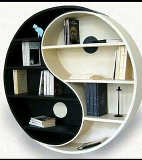 ying, bookshelf and yang