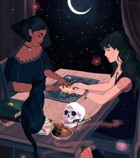 amigas, ilustraciones and luna