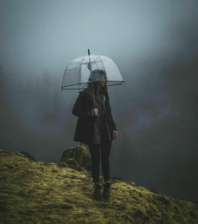 rain, girl and rain day