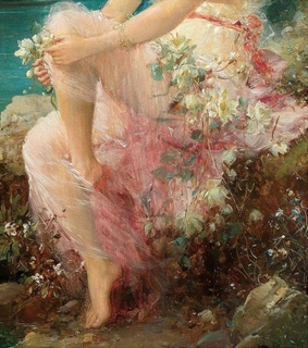 woman, flowers and beautiful