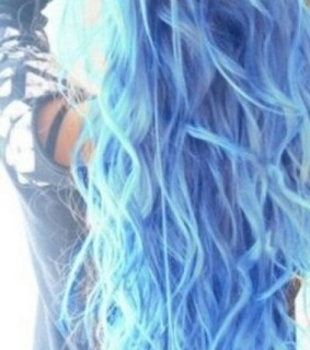 love, blue and hair