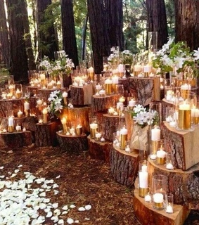 fall, decor and candles