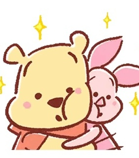 piglet, winnie the pooh and adorable